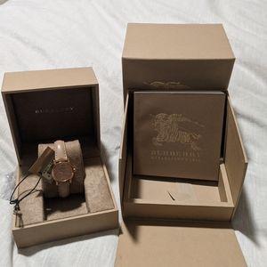 Burberry pink watch